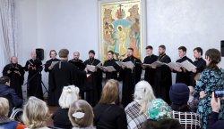 Состоялся первый большой Рождественский концерт Хора духовенства Выборгской епархии. Добавлено видео