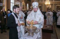 В Крещенский Сочельник  епископ Выборгский и Приозерский Игнатий совершил Божественную литургию в Выборге