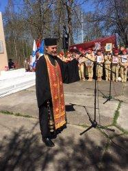 Клирик Выборгской Епархии совершил литию у памятника погибшим в Великую Отечественную Войну в п. Рахья