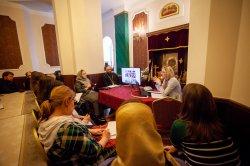 На подворье Коневской обители в Петербурге состоялся  открытый мастер-класс епархиальной пресс-службы и совещание сотрудников по информационному служению