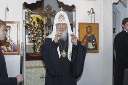 Посещением строящегося Никольского собора в Рощино начался визит Святейшего Патриарха Кирилла по случаю юбилейных торжеств 125-летия Выборгской епархии в ее пределы
