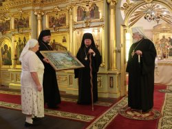 Состоялся визит главы Финляндской Православной Церкви архиепископа Льва  в Коневский Рождество-Богородичный монастырь