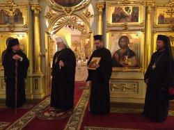 В ходе торжеств 125-летия Выборгской епархии состоялся визит главы Финляндской Православной Церкви архиепископа Льва  в Коневский Рождество-Богородичный монастырь