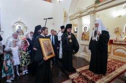 Святейший Патриарх Московский и всея Руси Кирилл посетил строящийся храмовый комплекс в честь Успения Пресвятой Богородицы в Южном микрорайоне Выборга